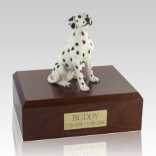 Dalmatian Seated Dog Urns