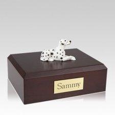 Dalmatian Settled Large Dog Urn
