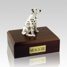 Dalmatian Sitting Dog Urns