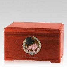 Dance Fan Cherry Cremation Urn