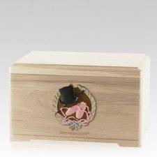 Dance Fan Maple Cremation Urn