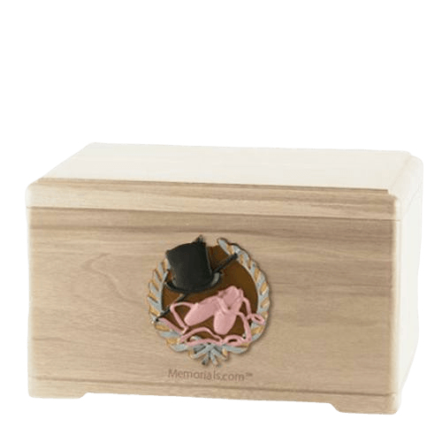 Dance Fan Maple Cremation Urn