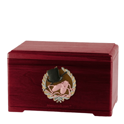 Dance Fan Rosewood Cremation Urn