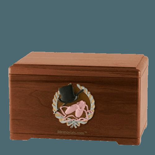 Dance Fan Walnut Cremation Urn