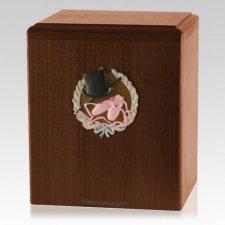 Dance Walnut Cremation Urn