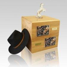 Dapple Gray Rearing Full Size Horse Urns