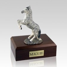 Dapple Gray Rearing X Large Horse Cremation Urn