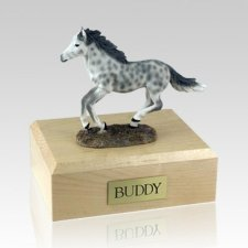 Dapple Gray Running Large Horse Cremation Urn