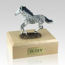Dapple Gray Running X Large Horse Cremation Urn