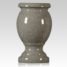 Dark Gray Granite Vase