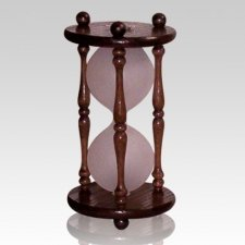 Hourglass Dark Oak Pet Urn