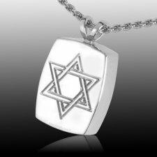 Davids Star Cremation Pendant