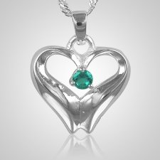 December Birthstone Cremation Heart