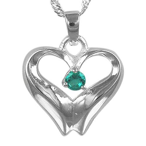 December Birthstone Cremation Heart