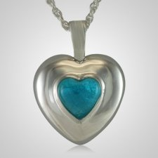 December Cremation Heart Pendant