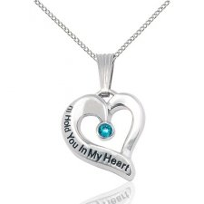 December White Gold Heart Keepsake