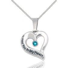 December Heart Keepsake Jewelry
