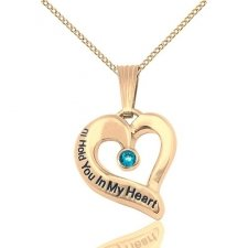 December Yellow Gold Heart Keepsake
