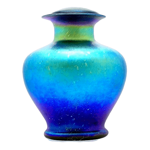 Deep Sea Glass Cremation Urn