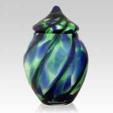 Deep Waters Glass Pet Urn