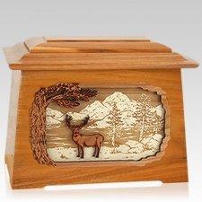Deer Land Mahogany Aristocrat Cremation Urn