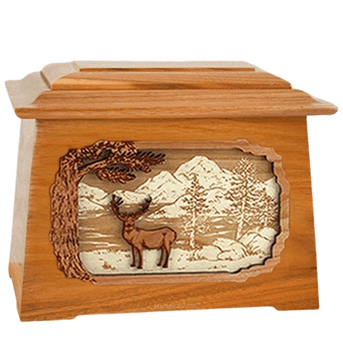 Deer Land Mahogany Aristocrat Cremation Urn
