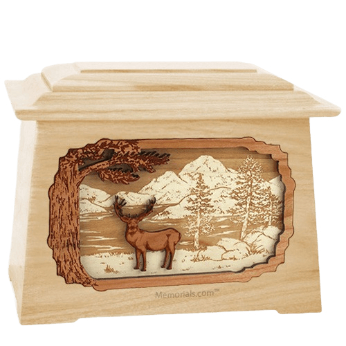 Deer Land Maple Aristocrat Cremation Urn