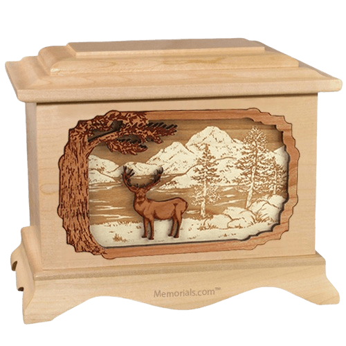 Deer Land Maple Cremation Urn