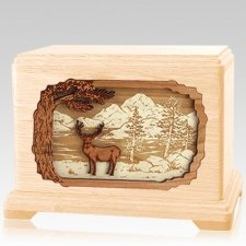 Deer Land Maple Hampton Cremation Urn