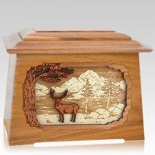 Deer Land Oak Aristocrat Cremation Urn