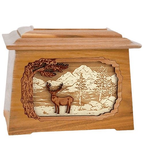 Deer Land Oak Aristocrat Cremation Urn