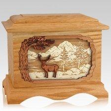 Deer Land Oak Cremation Urn