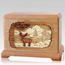 Deer Land Oak Hampton Cremation Urn