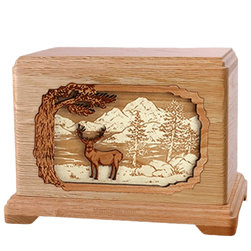 Deer Land Oak Hampton Cremation Urn