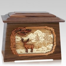 Deer Land Walnut Aristocrat Cremation Urn