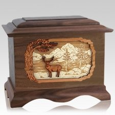 Deer Land Walnut Cremation Urn