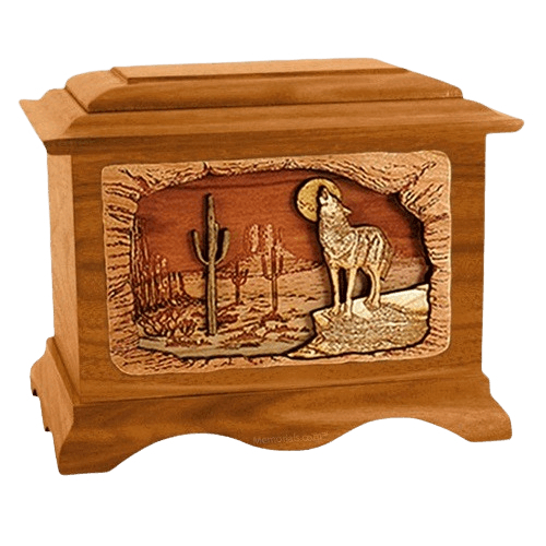 Desert Moon Mahogany Cremation Urn