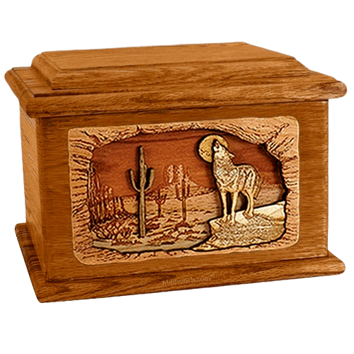 Desert Moon Mahogany Memory Chest Cremation Urn