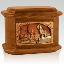 Desert Moon Mahogany Octagon Cremation Urn