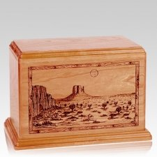Desert Sunset Companion Cherry Wood Urn