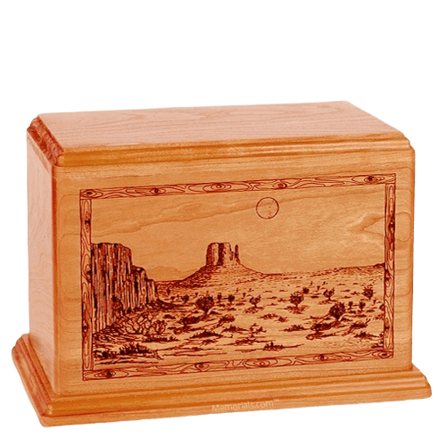 Desert Sunset Companion Mahogany Wood Urn