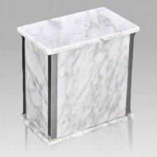 Designer Silver Bianco Marble Urn