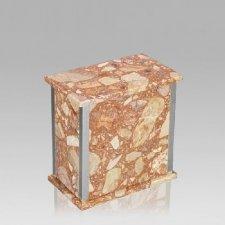 Designer Silver Breccia Pernice Medium Urn