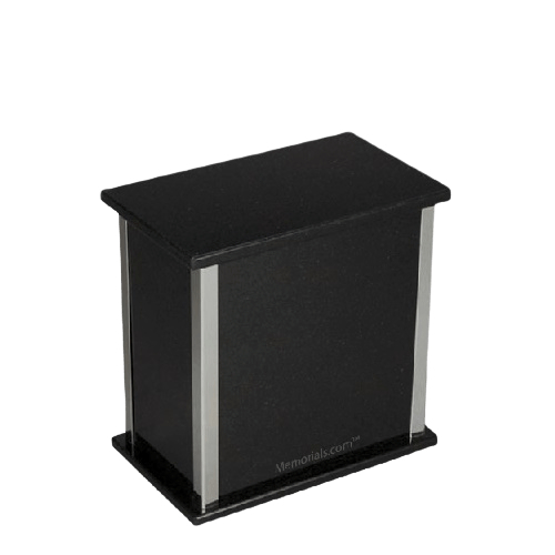 Designer Silver Nero Granite Medium Urn