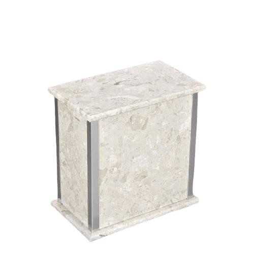 Designer Silver Perlato Medium Urn