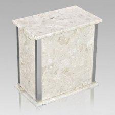Designer Silver Perlato Urn