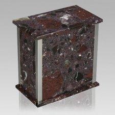 Designer Silver Rosso Levanto Urn