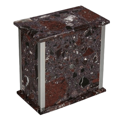 Designer Silver Rosso Levanto Cremation Urns