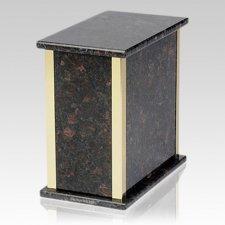 Designer Tan Brown Granite Cremation Urn
