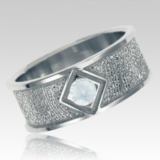 Diamond Sterling Silver Ring Print Keepsake